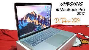 Unboxing Laptop Apple Macbook Pro Retina 2017 Non Touch Bar di Tahun 2019  Resmi Ibox - YouTube