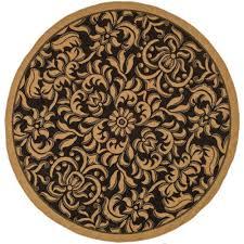 full size of bedroom good looking round indoor outdoor rugs 18 black natural safavieh cy6634 46