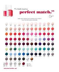 Essie Gel Colors Chart Essie Gel Color Chart