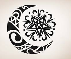 Celtic Moon And Star Ink It Star Tattoo Designs Moon Sun