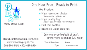 one hour coupon dawning light com bring me a complete set of content and allow me to use my templates to drop in your information i will give you a file to send to upload to your printer
