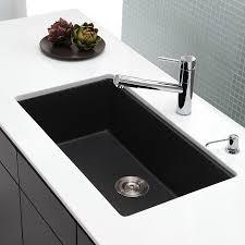 Shop Kraus Kitchen Sink 1709 In X 3047 In Black Onyx Single Basin