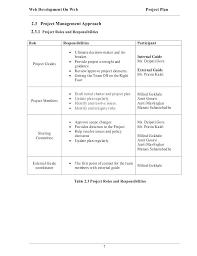 Web Development Project Plan Template Lucassportportal Info