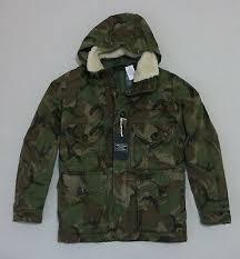 Abercrombie Men Camo Combat Parka Outerwear Jacket Size M Xl New With Tags Ebay