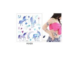 Voděodolné Dočasné Tetování Motiv Unicorn