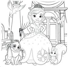 Coloring Princess The First Coloring Pages Home Sofia Pdf Princess