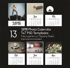 Calendar Templates Interesting 48x48 Photo Calendar Template 48 48 PSD Templates Photoshop Etsy