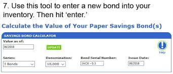 Series E Bonds Value Chart Heres A Step By Step Guide To Using The Treasurys New