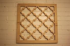 moroccan lattice wall hanging 24 x 24 x 75 wood unfinished