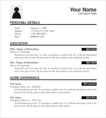 Resume Template Download 65 Images Free Cv Templates 254 To 260