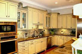 kitchen backsplash white cabinets brown countertop. Kitchen Backsplash White Cabinets Brown Countertop. Contemporary Ideas With Inspiring Countertop L