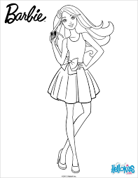 amazing free printable barbie colouring page