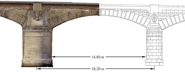 architectural drawings of bridges. Simple Bridges Orthophoto Mosaic And Architectural Drawing Of The AnnaEbertBridge Top  Complete In Architectural Drawings Of Bridges