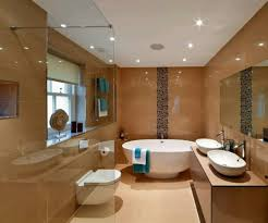 modern bathroom with recessed lighting ceiling spacing led kit remodel costco covers best bulbs for retrofit trim home depot light