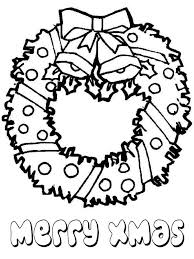 Lovely Christmas Wreath For Decoration Coloring Page Download