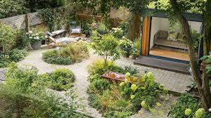 a low maintenance garden full of clever