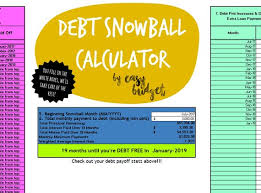 debt snowball calculator free debt snowball calculator automatically calculates payoff etsy