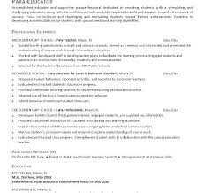 Paraprofessional Resume Sample Tutor Dazzling Paraprofessional ...