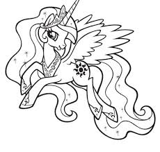 Princess Celestia Coloring Pages Movies And Tv Show Coloring Pages