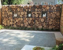 #11 A Wood Gabion Wall