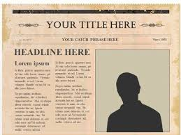 Editable Old Newspaper Template Editable Olden Times Newspaper
