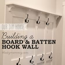 bathroom boards board batten build a diy board and batten hook wall the diy mommy