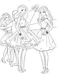 Tranh tô màu công chúa Barbie đẹp, dễ thương nhất cho bé