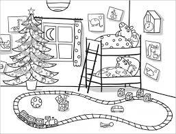 Peppa Pig E George A Letto Natale Disegno Da Colorare Gratis