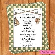 Fish Fry Party Invitations Fish Fry Invitation Adult Birthday