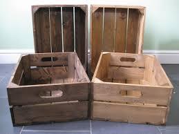 medium brown shallow wooden crate bundles