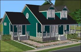 small cape cod house plan 3d