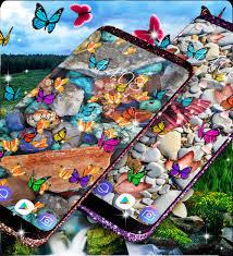 Butterfly Wallpaper Stones