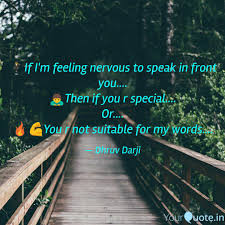 Forest Quotes New 🕴️If I'm Feeling Nervous Quotes Writings By Dhruv Darji