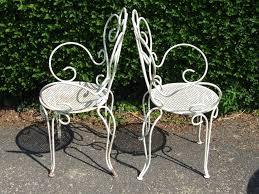 white iron outdoor furniture. garden iron chairs white outdoor furniture