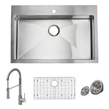 giagni trattoria 33 in x 22 in stainless steel single basin drop