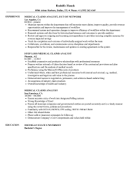 Medical Claims Analyst Sample Resume Medical Claims Analyst Resume Samples Velvet Jobs 1
