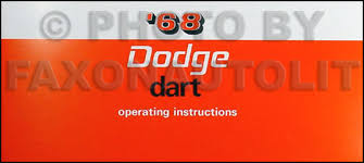 1968 dart wiring diagram manual reprint 1968 dodge dart reprint owner s manual 68 270 gt gts
