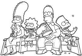 Landscape Simpsons Man Came Dinner Coloring Page Wallpapers The
