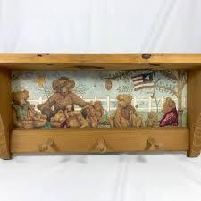 Bear Coat Rack American Teddy Bear 100 Wall Shelf Coat Rack Vintage Handmade 94