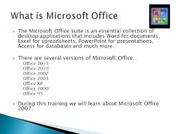 microsoft office presentations introduction to microsoft office 2007 with focus on ms word ppt