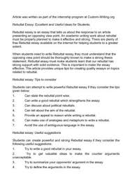 rebuttal essay excellent and useful ideas for students rebuttal essay excellent and useful ideas for students