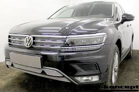 Защита <b>радиатора</b> Volkswagen Tiguan II 2016- <b>chrome</b> низ (<b>Off</b> ...