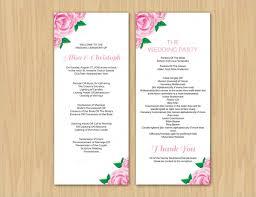 Printable Wedding Program Templates 17 Wedding Program Template Free Premium Templates