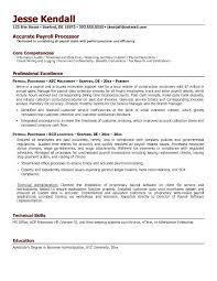 Payroll Resume Interesting Sample Payroll Resume Mmventuresco