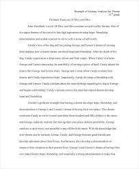 literary analysis samples theme literary essay example