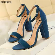 High Heels Women Sandals in <b>2019</b> | Things I'd wear | Blue high ...