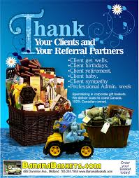 thank your clients and referral partners with a basket from bananabaskets sympathy