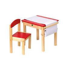 com guidecraft toddlers art table chair set red w storage compartment kids furniture classroom school supply toys
