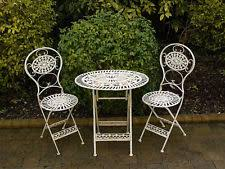 white cast iron patio furniture.  cast s3 vintage cast iron ornate patio garden table u0026 chairs furniture bistro  set with white