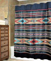native american shower curtain hooks southwestern bath decor inside size 998 x 1200